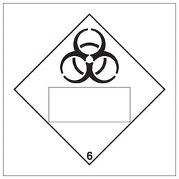 Bio Hazard 6 UN Substance Numbering Hazard Label