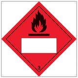 Flammable 3 UN Substance Numbering Hazard Label
