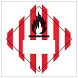 Flammable Solid 4 UN Substance Numbering Hazard Label