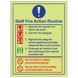Staff Fire Action Routine Do Not Use Lifts - Portrait
