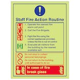 Staff Fire Action Routine Break Glass - Portrait
