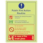 Public Fire Action Routine Lifts Break Glass - Portrait