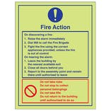 Fire Action Instructions - Portrait
