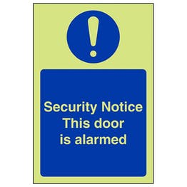 GITD Security Notice Door Is Alarmed - Portrait