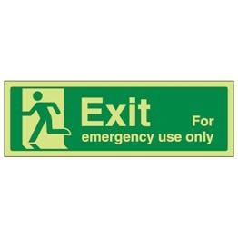 GITD Exit For Emergency Use Only Running Man Left