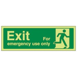 GITD Exit For Emergency Use Only Running Man Right