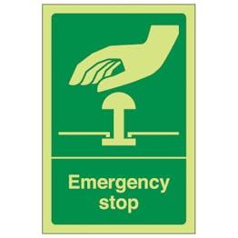 GITD Green Emergency Stop - Portrait