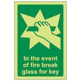 GITD In The Event Of Fire Break Glass For Key - Portrait