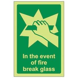 GITD In The Event Of Fire Break Glass - Portrait