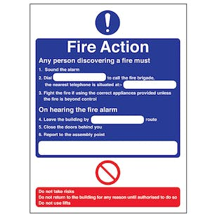 Fire Action - Any Person Discovering A Fire/Nearest Telephone