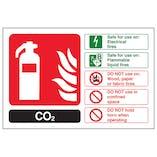CO2 Fire Extinguisher - Landscape