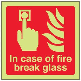GITD In Case Of Fire Break Glass - Square