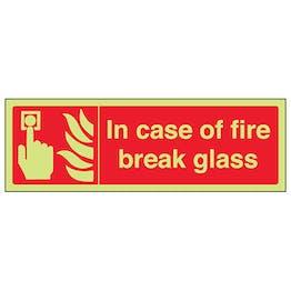 GITD In Case Of Fire Break Glass - Landscape