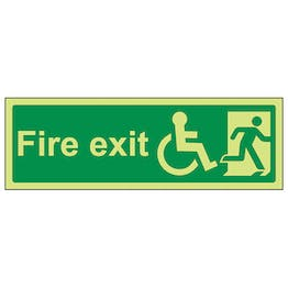 GITD Wheel Chair Final Fire Exit With Text Man Right - Landscape