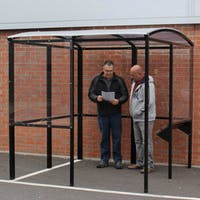 Smoking Shelter with Integrated Seating