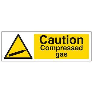 Caution Compressed Gas - Landscape