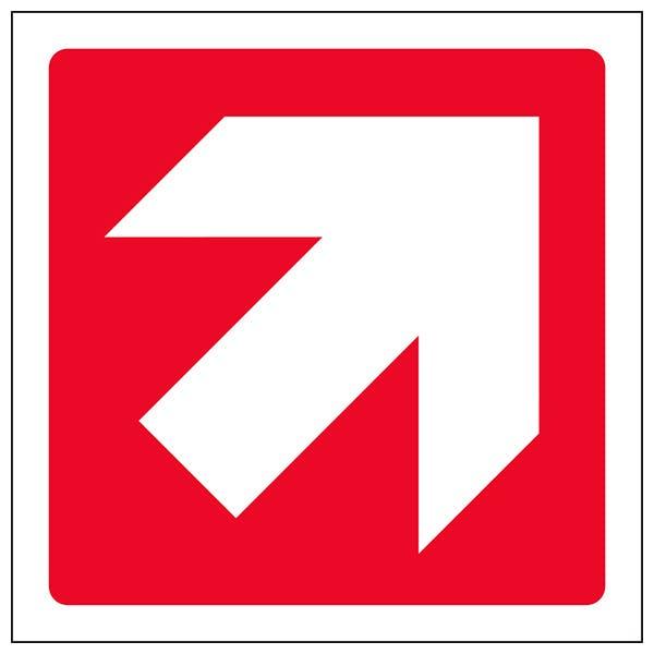 Red Diagonal Arrow - Square