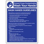 Wash Hands Guidelines - Portrait