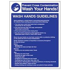 Wash Hands Guidelines - Portrait