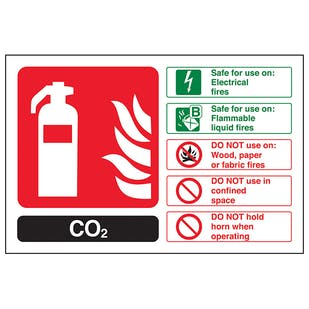CO2 Fire Extinguisher - Landscape