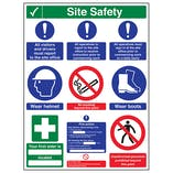 Multi Hazard Site Safety Notice 9 Points 3 Column - Portrait