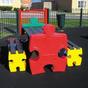 Jigsaw Table and Bench Set
