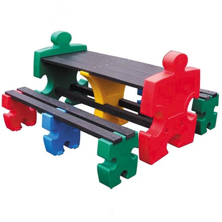 Jigsaw Table & Bench Set