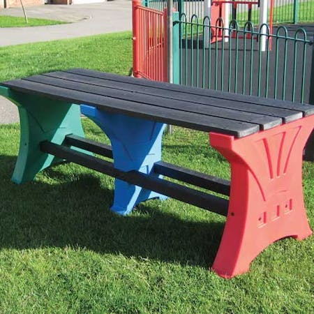 Multicoloured Play Table and Bench Set