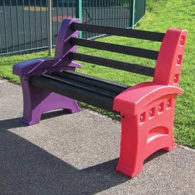 Multicoloured Play Table and Seat Set