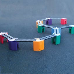 Multicoloured Spiral Bench