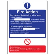 Fire Action - Any Person Discovering A Fire