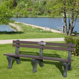 Memorial Deluxe Park Seat with Back