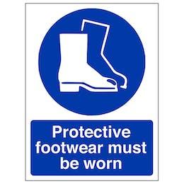 Protective Footwear Must Be Worn - Portrait