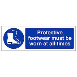 Protective Footwear Must Be Worn - Landscape