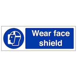 Wear Face Shield - Landscape