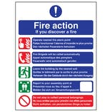 Multilingual Fire Action - If You Discover A Fire