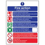 Multi-Lingual Fire Action 6 Points - Portrait