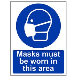 Masks Must Be Worn In This Area - Portrait