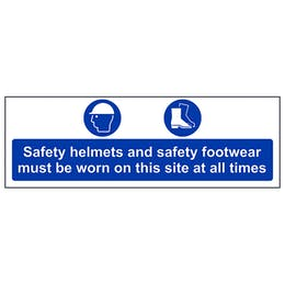 Safety Helmets and Footwear Must Be Worn