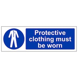 Protective Clothing Must Be Worn - Landscape