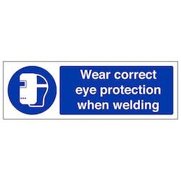 Wear Eye Protection When Welding - Landscape