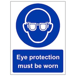 Eye Protection Must Be Worn - Portrait