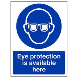 Eye Protection Is Available Here - Portrait