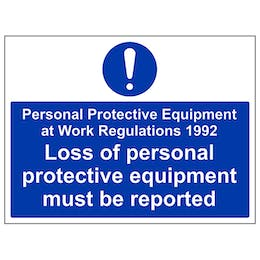 PPE Work Regulations 1992 - Large Landscape