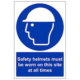 Safety Helmets Must Be Worn - Portrait