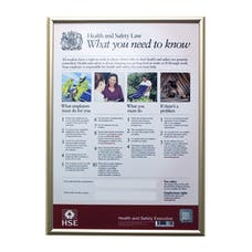 HSE Law Poster With Aluminium Frame