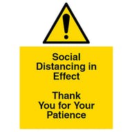 Social Distancing In Effect - Thank You