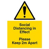 Social Distancing in Effect - Keep Apart