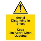 Social Distancing in Effect - Keep Apart
