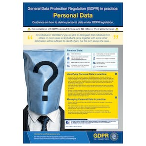 GDPR In Practice Poster - Personal Data